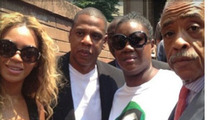 Jay Z & Beyonce -- Protest In NYC ... With Trayvon Martin's Mom