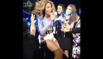 Beyonce -- HELP, MY HAIR IS STUCK IN THE FAN!!!!!