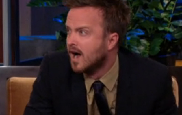 "Aaron Paul Reacts to His Horrible ""90210"" Cameo on Jay Leno!"