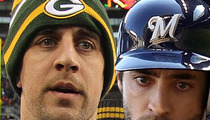 Aaron Rodgers -- Ryan Braun (cluck) Lied To My (cluck) Face! (cluck)