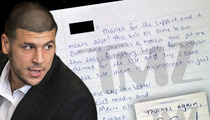 Aaron Hernandez Jail Letter #2 -- I'm Going Nuts Without Internet LOL