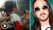 Steve Aoki -- Wheelchair Kid Takes The Cake