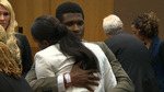 Usher and Tameka Hug It Out