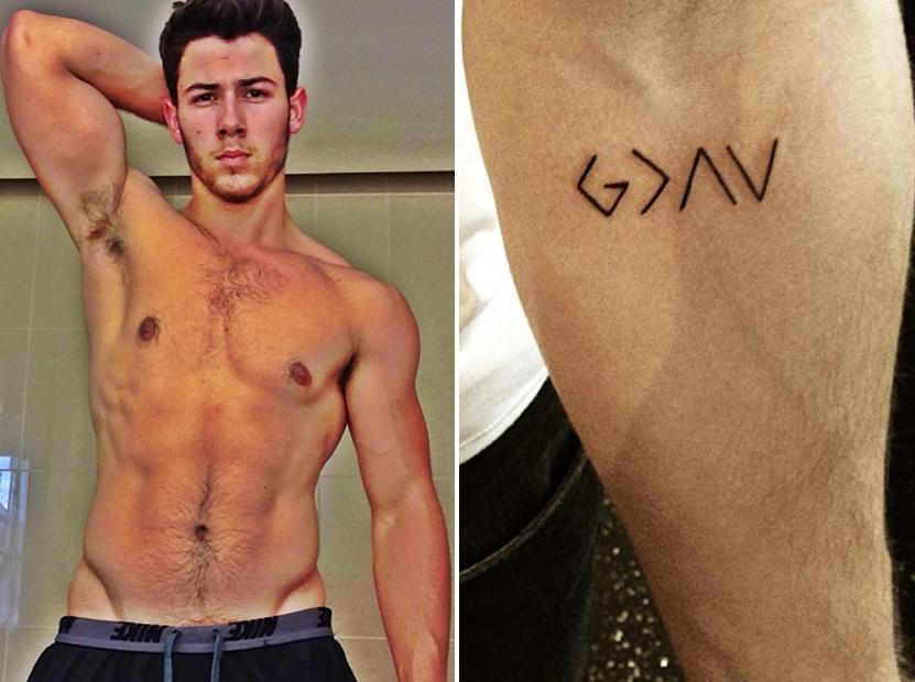 Danielle Jonas Tattoo Nick Jonas Gets New God Tattoo