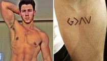 Nick Jonas Gets New God Tattoo -- See the Pic!
