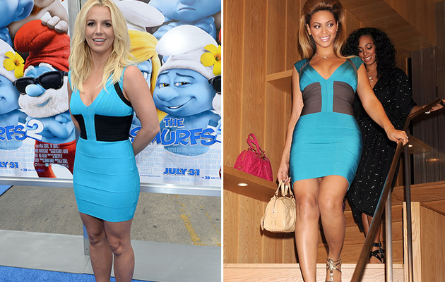 Dueling Dresses: Britney Spears vs. Beyonce!