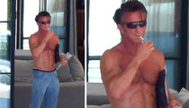 Sean Penn -- Ripped Man Smoking
