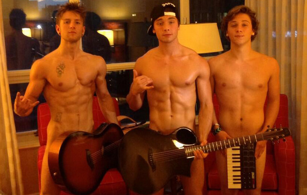 Emblem3 Strip Naked to Make Fun of Justin Bieber