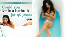 """""""Real Housewives"""" Star Strips For PETA"""
