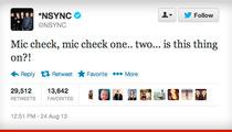 *NSYNC -- Definitely Performing at VMAs ... Probably