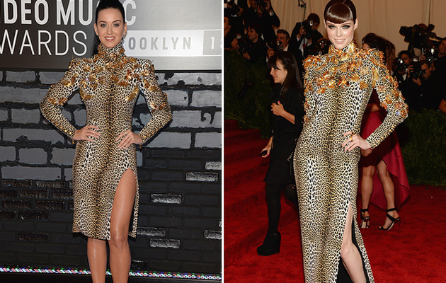 Dueling Dresses: Katy Perry vs. Coco Rocha!