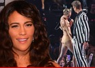 Robin Thicke's Wife Paula Patton -- NOT Mad at Miley Cyrus ... for Molesting Hubby at VMAs