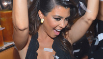 Kourtney Kardashian Parties In Vegas Sporting Low Cut Top