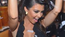 Kourtney Kardashian Parties In Vegas Sporting Low Cut Top