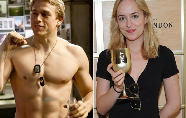 "Charlie Hunnam & Dakota Johnson Cast in ""Fifty Shades of Grey"""