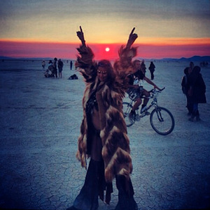 Stacy Keibler's Burning Man Festival Photos