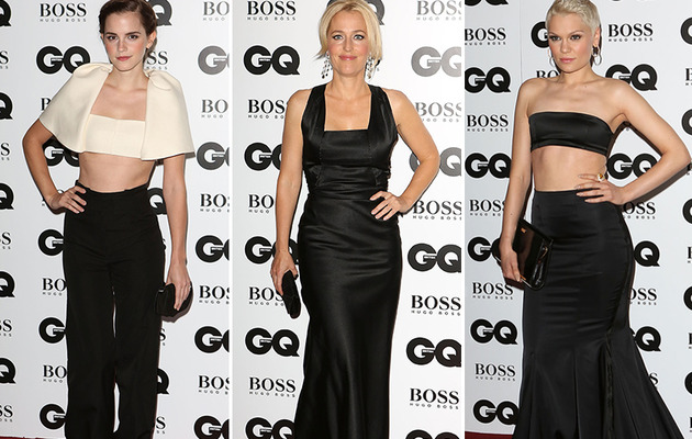 Emma Watson Shows Off Toned Tummy at GQ Awards