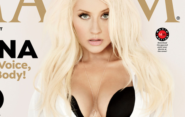 Christina Aguilera Strips for Maxim, Talks Britney & Justin!