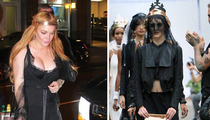 Ali Lohan Models.... But Lindsay's BOOBS Steal The Show!