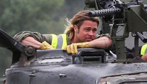 Brad Pitt -- Makes Badass Tank Way More Badasser