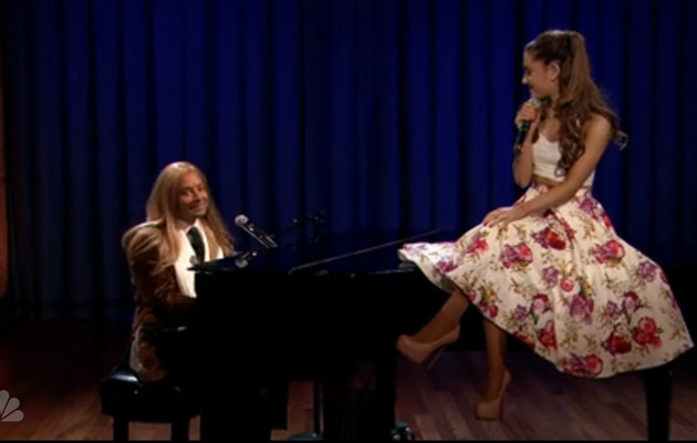 Video: Jimmy Fallon And Ariana Grande Belt Broadway Versions of Hip-Hop Songs!