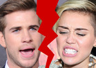 Miley Cyrus and Liam Hemsworth -- Overt Signs of Split