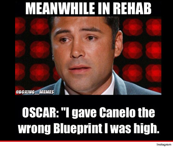 After Doing An Honest Evaluation Of Himself Oscar De La Hoya Signed Up For Rehab in addition Hector Macho Camacho On Life Support After Shooting 1 moreover Floyd Mayweather Oscar De La Hoya Rehab Meme Canelo Alvarez in addition Pick Up A Newspaper Here moreover Boxing Tickets. on oscar de la hoya problems