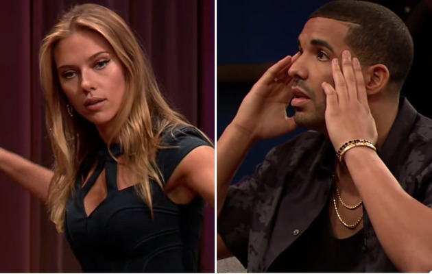 Video: Scarlett Johansson and Drake Play Charades!