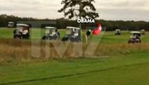 Barack Obama -- Yells At Himself After Bad Golf Shot ... 'Not THAT Far Left'