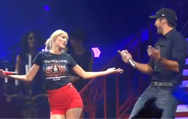 Video: Luke Bryan Surprises Crowd at Taylor Swift Concert!