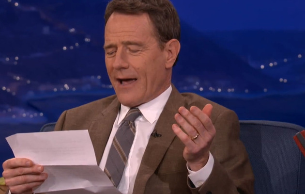Bryan Cranston Reads His Favorite Erotic Fan Letter!
