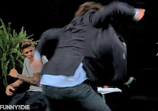 Zach Galifianakis Belts Justin Bieber In New Video