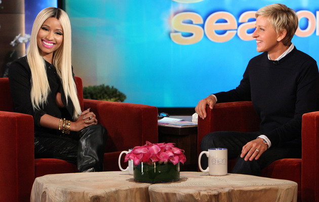 Ellen DeGeneres Calls Out Nicki Minaj For Not Wearing a Bra!