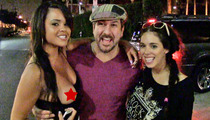 Joey Fatone -- Chick Fans Show Topless Love