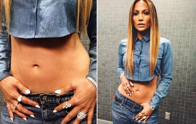 Jennifer Lopez Flaunts Amazing Abs at 44!