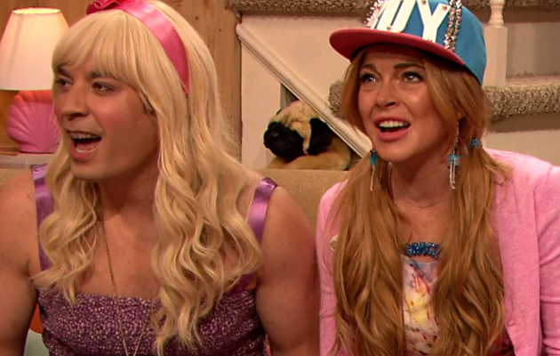 "[VIDEO] Check Out Jimmy Fallon & Lindsay Lohan's Hilarious ""Ew"" Skit!"