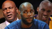 Michael Jordan -- I'd DESTROY LeBron James in 1-on-1 ... But Not Kobe Bryant