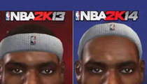 NBA 2K14 Honchos -- LeBron James' Bald In Our Game ... 'Cause He's Bald In Real Life!