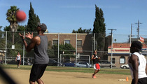 Jason Collins -- GAY KICKBALLIN' ... During NBA Training Camp