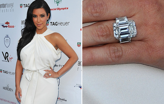 Kim Kardashian's Engagement Ring: How Much Did It Sell For at Auction?
