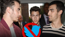 Jonas Brothers -- Done for Good ... on Twitter, Anyway