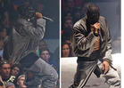 Kanye West -- PEEP DEEZ NUTS ... Crotch Rips During Seattle C