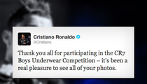Cristiano Ronaldo -- Thanks Kids for Sending Him PICTURES in Boys Underwear Competition