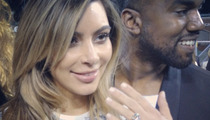 Kim Kardashian Engaged to Kanye West -- See the Ring!