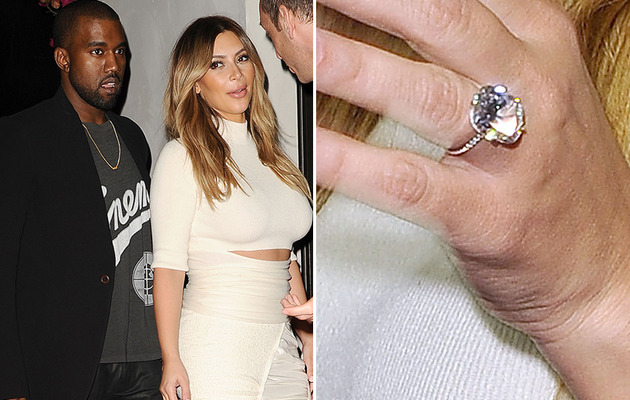 Kim Kardashian Goes Public with Her Engagement Ring -- See New Pic!