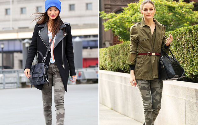 Camouflage Clash: Jamie Chung vs. Olivia Palermo!