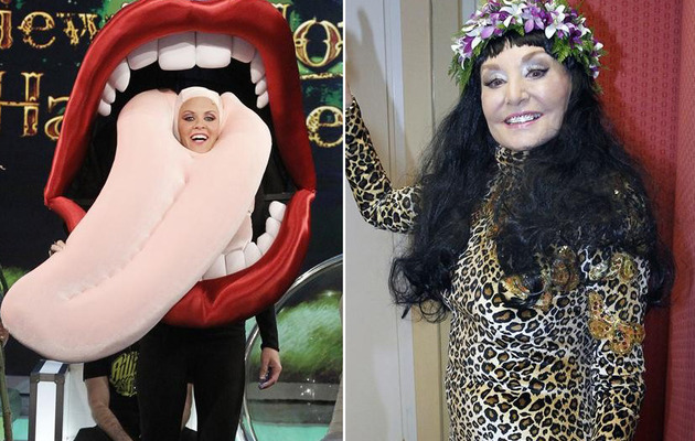 """The View"" Halloween: Barbara Wears a Grill, Jenny Does Miley"