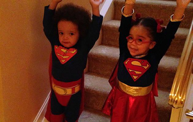 Mariah Carey's Superhero Twins & More Celeb Halloween Pics!