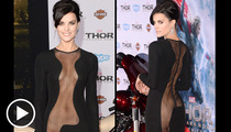 'Thor' Star Jaimie Alexander -- Half-Ass Gown Looked So Damn Good