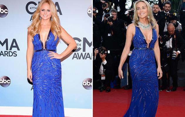 Dueling Dresses: Miranda Lambert vs. Sharon Stone!